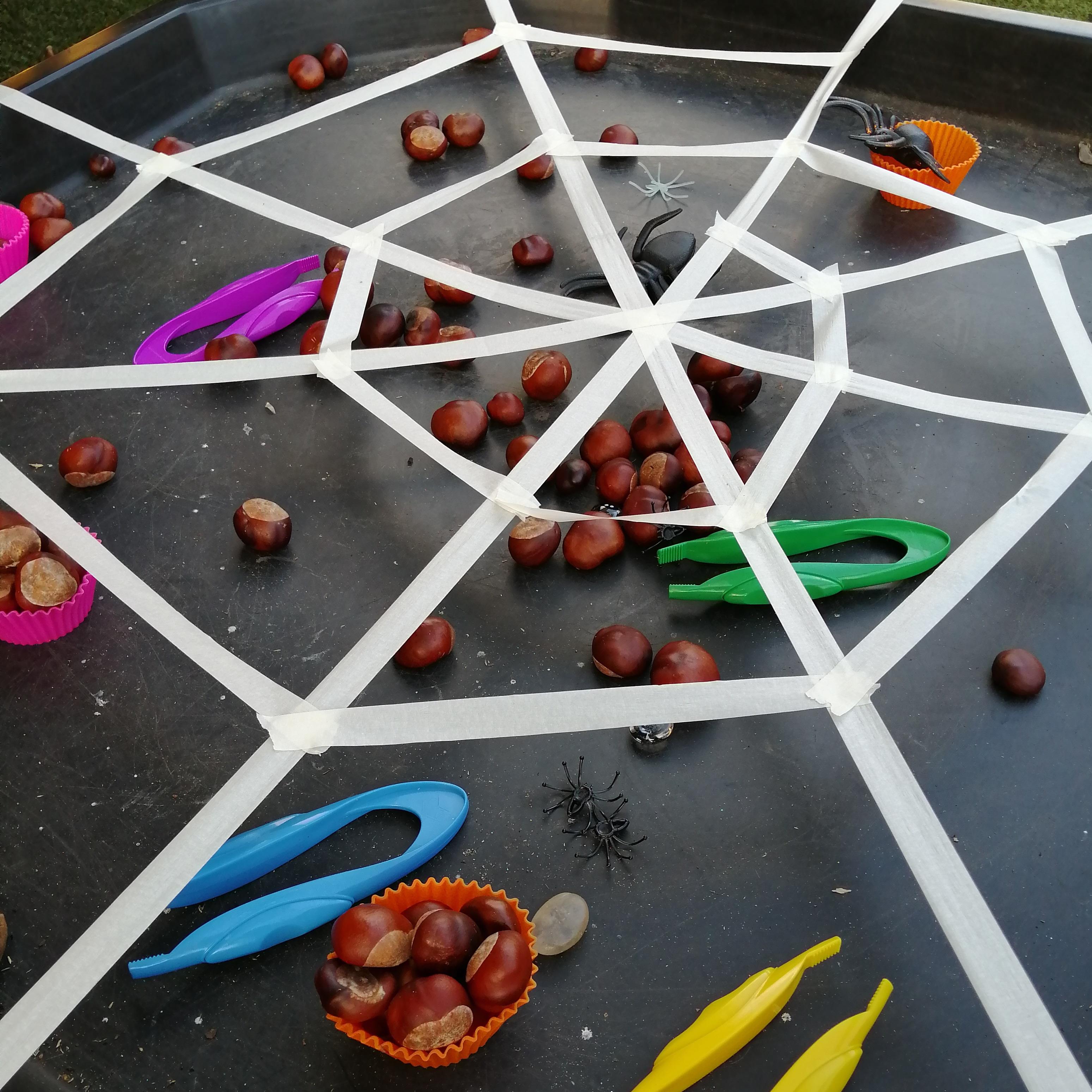 Spider-web-fine-motor-activity